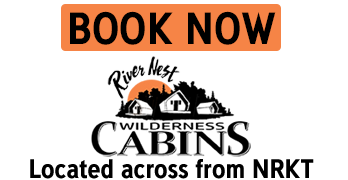 Book now image for the River Nest Wilderness Cabins